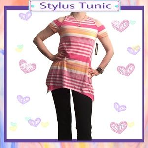 ❌CLEARANCE❌ Stylus striped cold shoulder tunic top